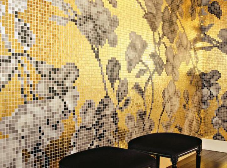 Bisazza-Mosaico-fiori-oro